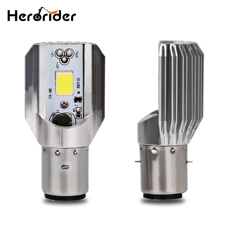 Herorider Motorcycle Headlight Scooter Bulb H6 Ba20d 6000k Light ATV Moto Motorbike Accessories Fog Lamp For Suzuki For Honda