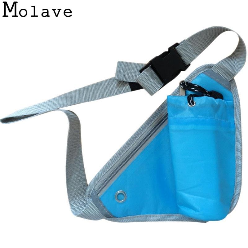 2018 Fashion New Unisex Functional Bag Cool Casual Waist Bag Triangular Water Bottle Pocket Bag Zipper Polyester Pouch Bag Apr13 цена
