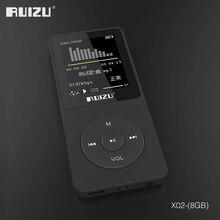 Оригинальная английская версия, Ультратонкий MP3-плеер с 8 Гб памяти и экраном 1,8 дюйма, может воспроизводить 80 h, RUIZU X02