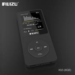مشغل MP3 فائق النحافة بتصميم إنجليزي أصلي 2016 100% مع مساحة تخزين 8 جيجابايت وشاشة 1.8 بوصة يمكن أن تلعب 80 ساعة ، RUIZU X02 أصلي