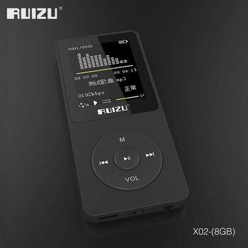 2016 100% מקורי אנגלית גרסה Ultrathin MP3 נגן עם 8 gb אחסון 1.8 inch מסך יכול לשחק 80 h, מקורי RUIZU X02