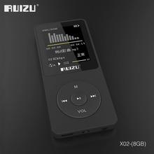 מקורי RUIZU X02 MP3 נגן עם 8GB אחסון 1.8 אינץ מסך מיני נייד ספורט Mp3 תמיכת FM רדיו, ספר אלקטרוני, שעון, מקליט