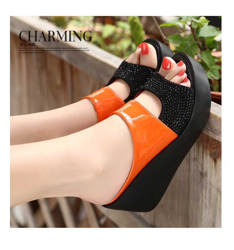 New Arrival 2019 women's sandals Women Summer Fashion Leisure Fish Mouth Sandals Thick Bottom Slippers wedges shoes women F90084