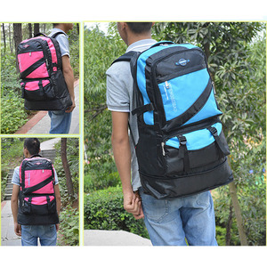 Image 4 - 60L waterproof men nylon backpack travel pack sports bag pack Outdoor Mountaineering Hiking Climbing Camping backpack for male