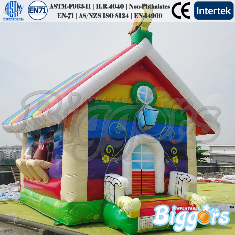 Good Quality Colorful Inflatable Kids Bouncy Castles with House Shape funny summer inflatable water games inflatable bounce water slide with stairs and blowers