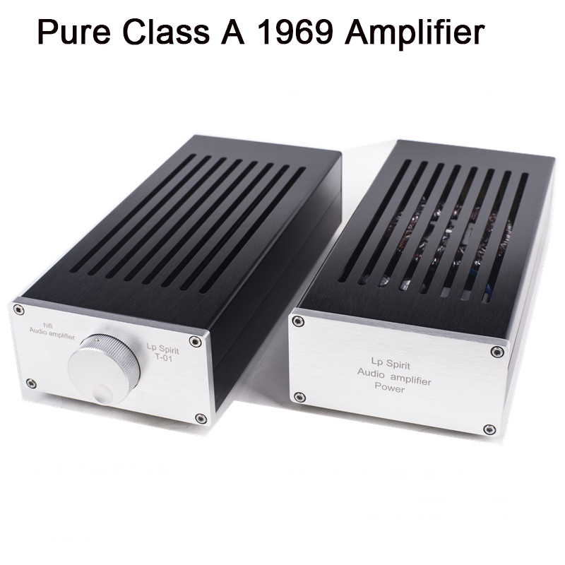 TAINCOOLKEI Pure Class A 1969 Amplifier Computer Desktop Mini Merge Split Type HIFI Audio Power Amp amplificador
