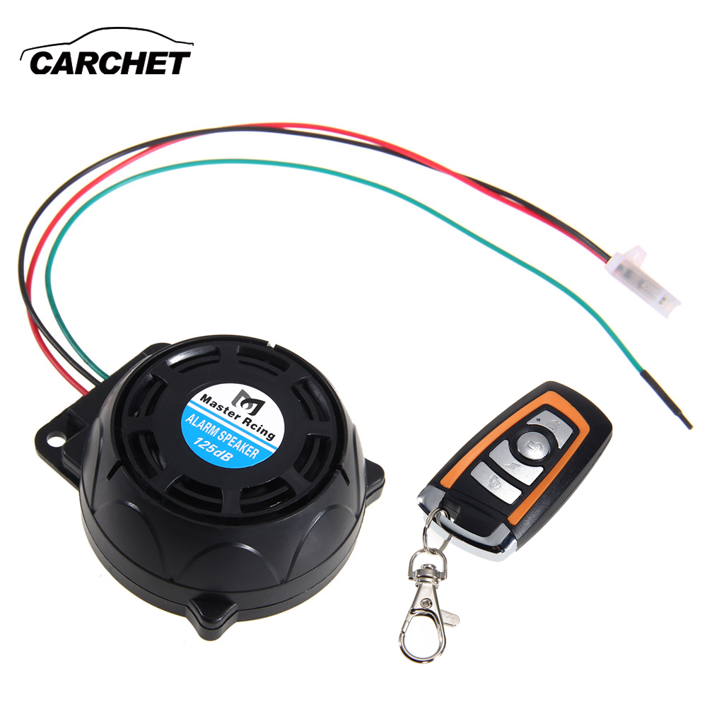 CARCHET 12V Motorcycle Anti-theft Security Alarm System Burglar Alarm Remote Control Security Engine 125db Theft Protection