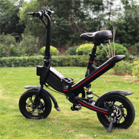 V1 12 inch Wheel Foldable Electric Scooter Mini Electric Bicycle Bike Instead Of Walking For Men Women Ebike Mileage 20 25km