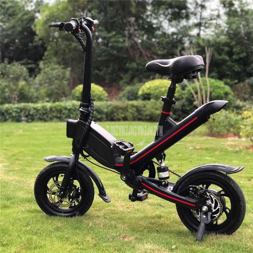 V1 12 pouces roue pliable électrique Scooter Mini vélo électrique au lieu de marcher pour hommes femmes Ebike kilométrage 20-25 km