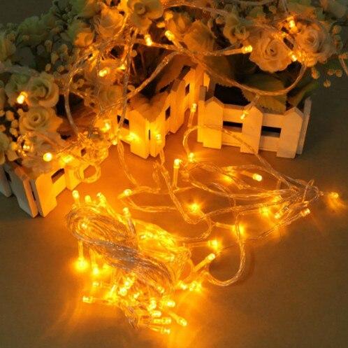 100 LED 10m Yellow/GREEN String Decoration Light For Christmas Wedding Holiday 110V 220V