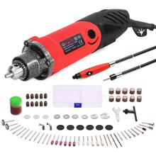 GOXAWEE 82Pcs Electric Drill Mini Engraver Grinder Power Tool Set with Flex Shaft  Rotary Tools Accessories For Dremel