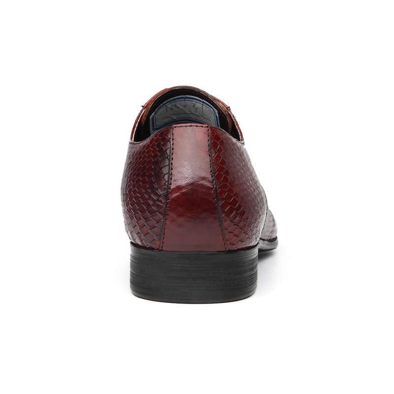 Otto itália luxo sapatos masculinos feitos à mão oxford retro sapatos de couro genuíno crocodilo vaca rendas-up clássico designer sapatos de plataforma