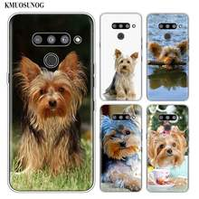 Silikon Weiche Telefon Fall yorkshire terrier hund für LG K50 K40 Q8 Q7 Q6 V50 V40 V30 V20 G8 G7 g6 G5 ThinQ Mini Abdeckung(China)