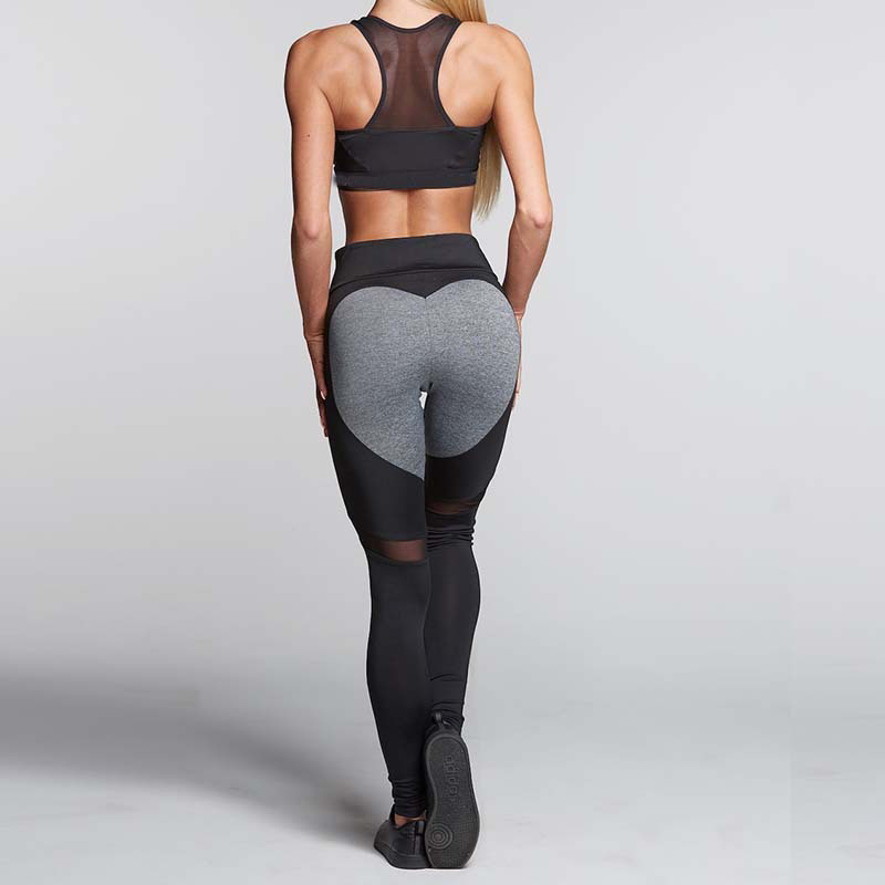 8707caeea60 Tresdin 2018 Women Fashion Gothic Push Up Ladies Mesh Pants Love Heart  Black Leggings Casual Pants High Waist Sexy Leggings