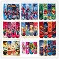 Носки оптовая продажа 2015 новый летний ребенок мультфильм супермен хлопка малышей носок детей-паук мальчики девочки 4 конструкций 12 пара/лот