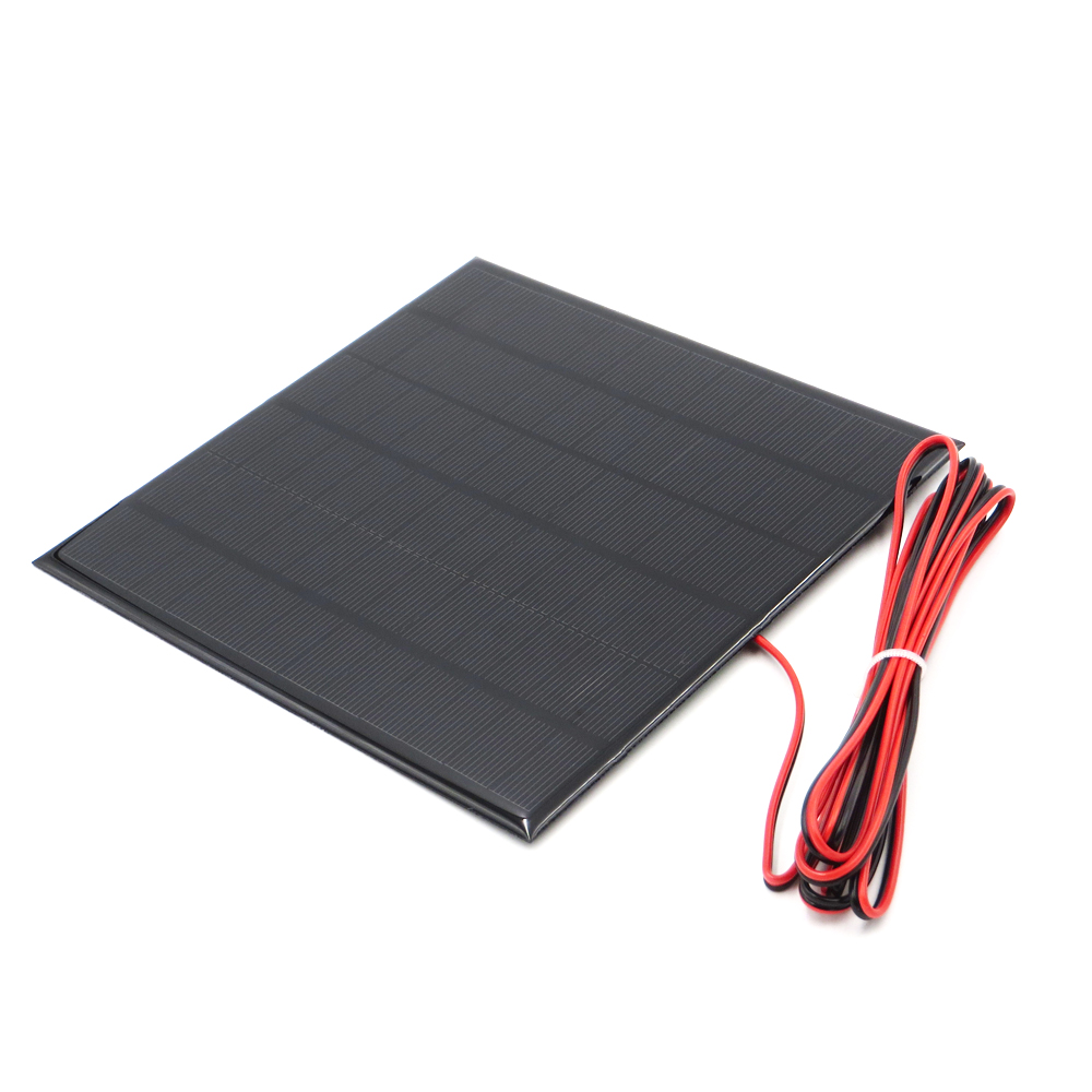 1pc x 18V 250mA with 200cm extend wire Solar Panel Polycrystalline Silicon DIY Battery Charger Small Mini Solar Cell cable toy