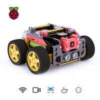 Adeept AWR 4WD WiFi Smart Robot Car Kit for Raspberry Pi 3 Model B+/B/2B, DIY Robot Kit for Kids and Adults, OpenCV Target Track