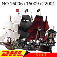 Building toy kit Imperial Warships+Black Pearl Ship+Queen Anne's revenge Pirate ShiP Compatible with lego 16006 22001 16009
