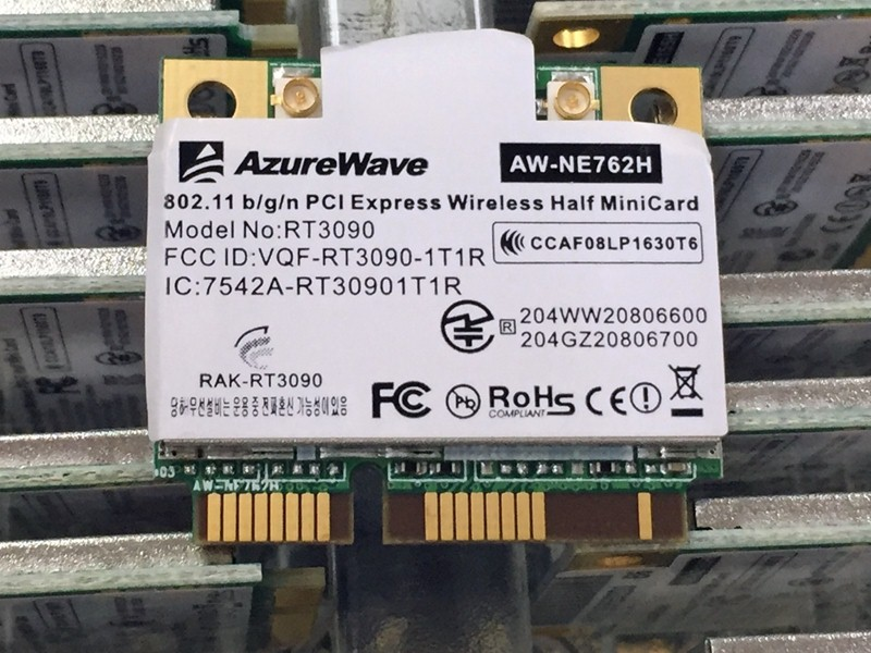 SSEA New Wirelesss Card For  For AzureWave AW-NE762H Ralink RT3090 Half Mini PCI-E Card 802.11 B/g/n 150Mbps
