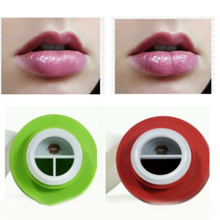 2017 Hot Sexy Mouth Beauty Lip Pump Enhancement Green Double or Red Single Lobbed Lips Pump Device Quick Lip Plumper Enhancer size l beauty lips enhancer plump pout fuller suction device