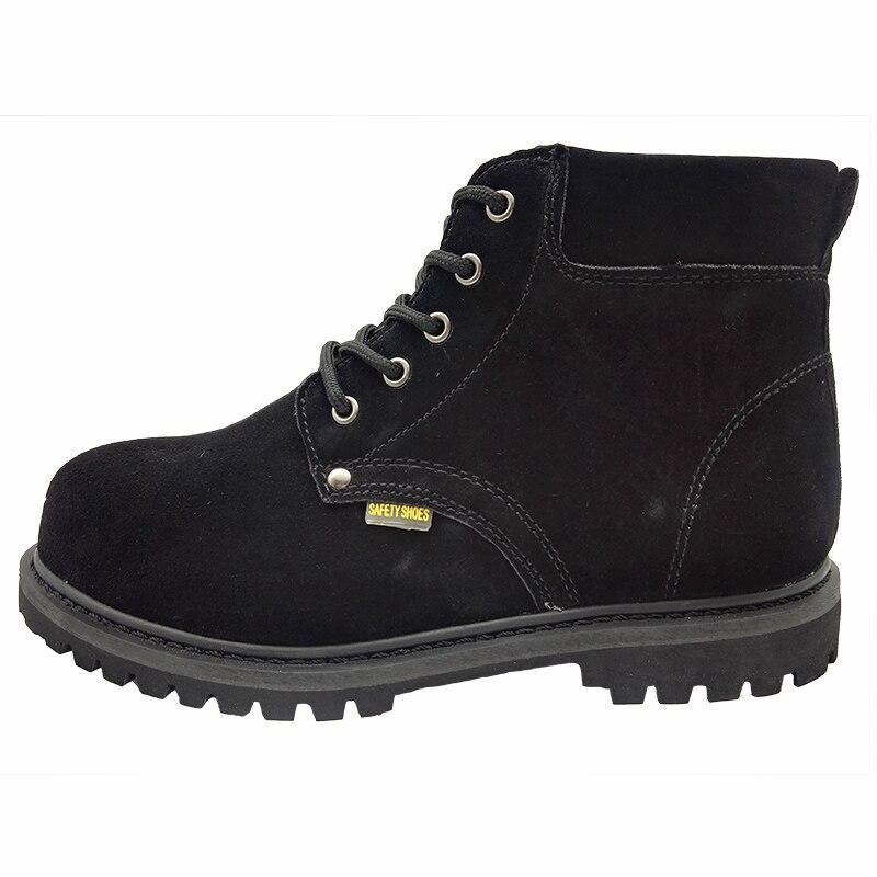 Sapatos Outono Boots De 45 Caps 46 Moda Grande Toe Suede Trabalho Mens Primavera Do Zapatos Steel Ankle Masculino Tamanho Leather Segurança Vaca PURffx
