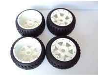 highway road tire set with nylon super star wheel for 1/5 Baja 5B SS