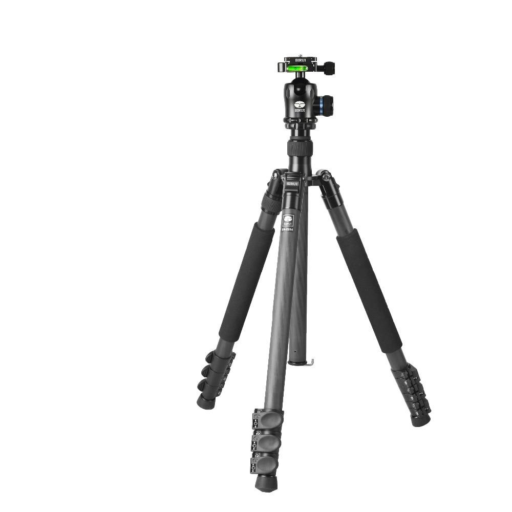 Sirui углеродного штатив + шаровой головкой Наборы для зеркальных камер Интимные аксессуары про путешествия UniPod монопод складной ноги раздви