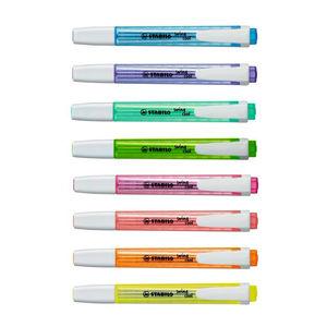 Image 5 - Confezione da 14 Stabilo New Swan Swing Cool Pocket evidenziatore marcatore 3mm linea spessa studente nota 8 normale più 6 colori pastello