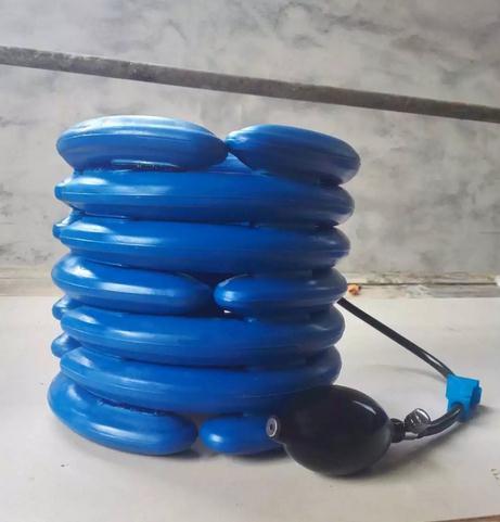 Borracha Natural maca pescoço camada tendo aparelho de tração cervical casa médica pescoço inflável engrenagem