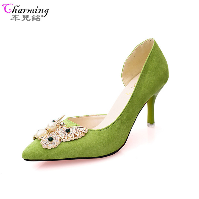 Buy suede mid heel shoes and get free shipping on AliExpress.com 3cdd29318cf9