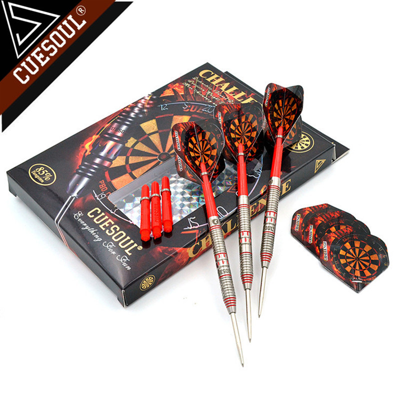 New CUESOUL 145mm Professional 85% Tungsten Steel Tip Darts With Nylon Shafts 24/26/28g Red cuesoul 24 26 28g professional 85% tungsten steel tip darts 145mm with nylon shafts csgl n2209