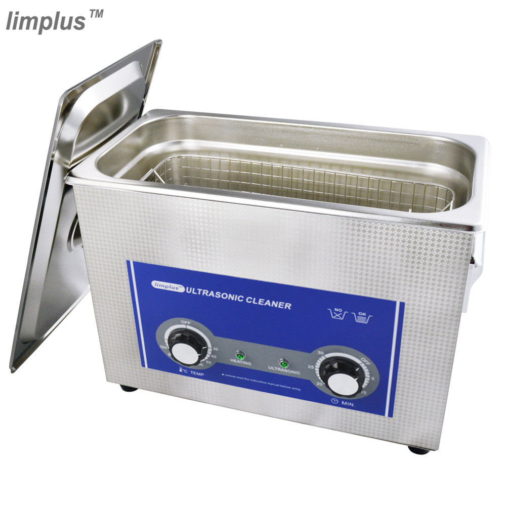 Limplus 4.5L Ultrasonic Cleaner Knob Control Stainless Steel Ultrasonic Bath Tank Cleaning Circuit Board Electronic Parts