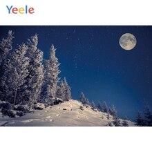 Yeele Winter Landscape Night Moon Mount Photozone Photography Backdrops Personalized Photographic Backgrounds For Photo Studio