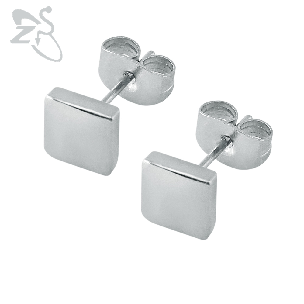 Nice Simple Design Ear Stud Lovely Small Square Stud Earring Stainless  Steel Cartilage Earrings Helix Piercing