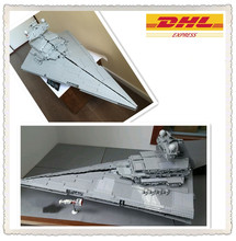 Free shipping  LEPIN 05027 3250Pcs Star Wars Imperial Star Destroyer Model Building Kit Minifigure Blocks Bricks Compatible10030