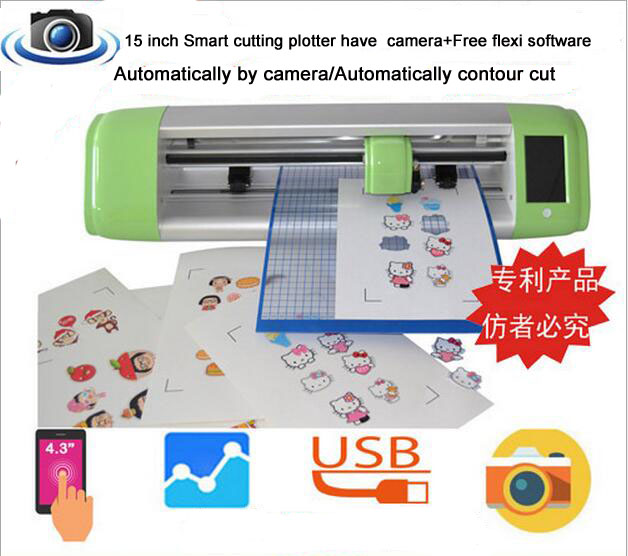US $751 06 6% OFF|15 inch Smart cutting plotter have camera+Free flexi  software Automatically by camera/Automatically contour cut-in Graph Plotter