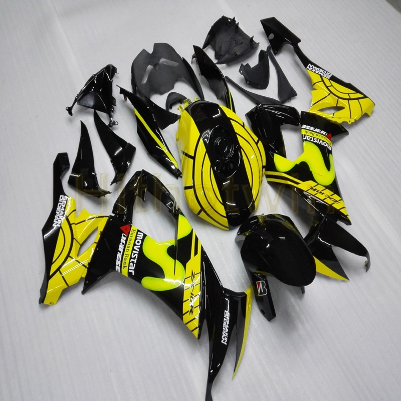 Custom Motorcycle Fairings For ZX10R 2008 2009 2010 ZX-10R 08-10 Body Kit+Free Screws+yellow Black M2
