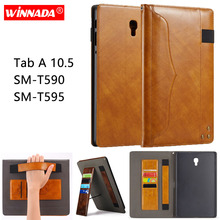 Luxury tablet case for Samsung galaxy Tab A 10.5 T590 T595 business style multifunctional cover SM-T590 SM-T595