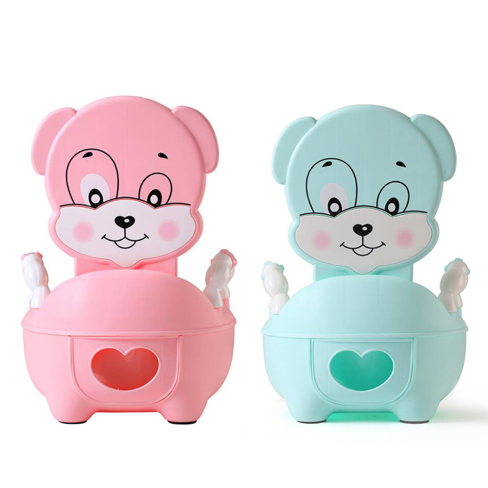 Baby Soft Potty Toilet Bowl Training Pan Plastic Seat Children's Pot Kids Portable Urinal Comfortable Backrest Cartoon Cute Pot