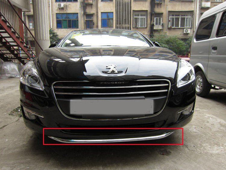 ABS Chrome Front Grille Around Trim Racing Grills Trim for 2011-2013 Peugeot 508 Car styling abs chrome front grille around trim racing grills trim for 2010 2011 hyundai santa fe decorative protection