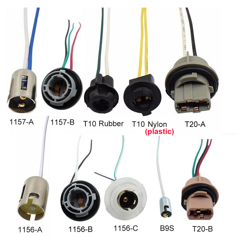 1PC LED T10 T20 1156 1157 B9S Car Lamp Lights Bulb Socket Adapter Extension Connector Plug Bulb Holder