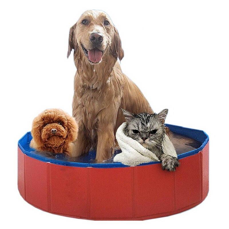 ortilerri pieghevole pet piscina pvc da bagno idromassaggio vasca da bagno per gli animali domestici cani