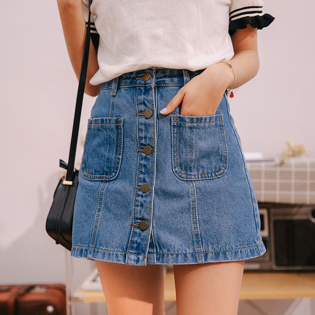 Denim-Skirt-High-Waist-A-line-Mini-Skirt