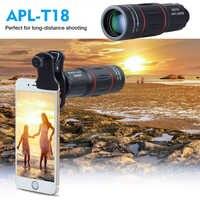 Apexel 18x lente zoom de distância distante lente do telefone móvel para smartphone universal iphone xiaomi redmi samsung telefone lente da câmera