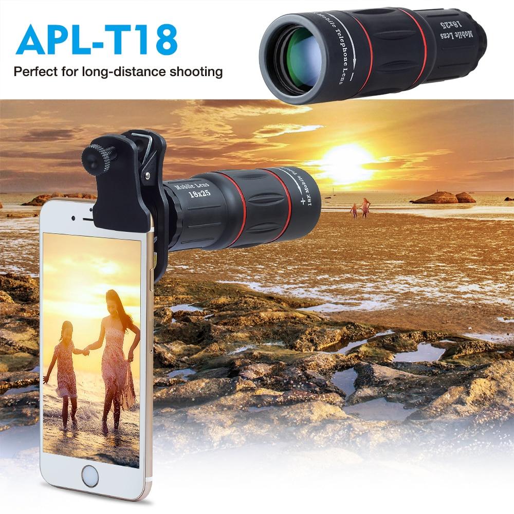 Objectif Zoom APEXEL 18X objectif de téléphone Mobile de longue Distance pour Smartphone universel iPhone Xiaomi Redmi Samsung Telefon objectif de l'appareil photo