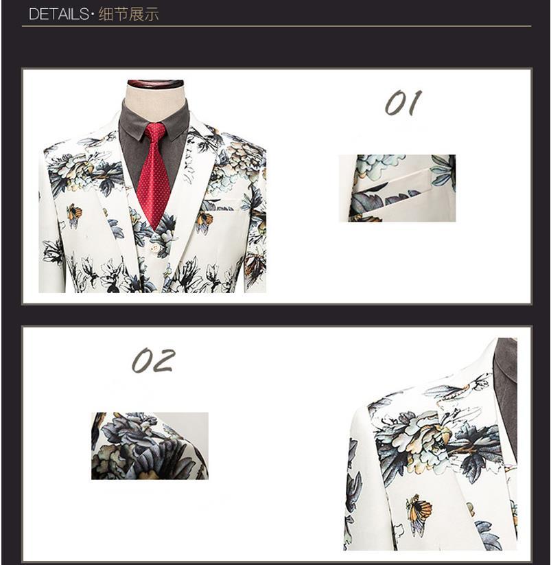 Mariage Taille Costumes Photo Pantalon M Gilet Pleine Mode 2019 Same Couleur Affaires Hommes Color veste Fit Costume 6xl Fleur Slim De AOqWwp
