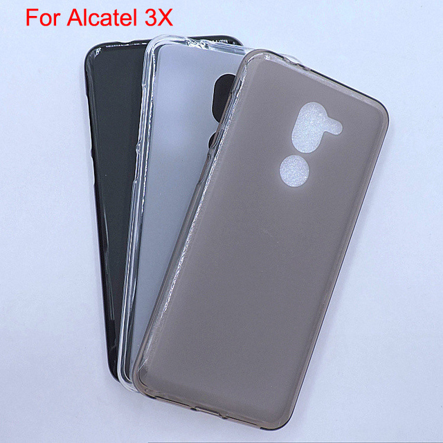 uk availability ce95b 646cc For Alcatel 3X 5058Y phone Cover Bag Case capa,For Alcatel 5058i Soft TPU  full protective case back guard shell