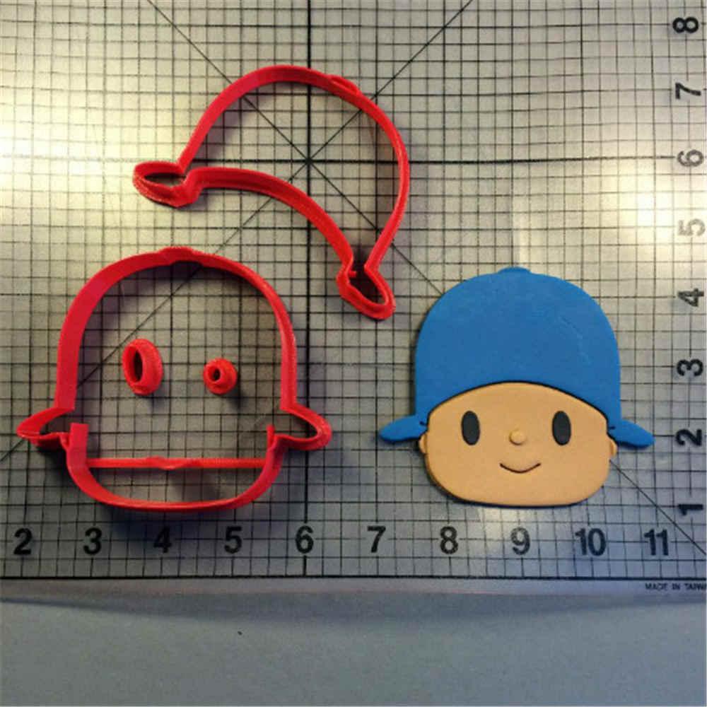Crianças Dos Desenhos Animados Personagem de TV Pocoyo Elly Pato Rosto Cookie Cutter Custom Made 3D Impresso Moldes Do Bolinho De Imprensa Do Bolinho de Plástico