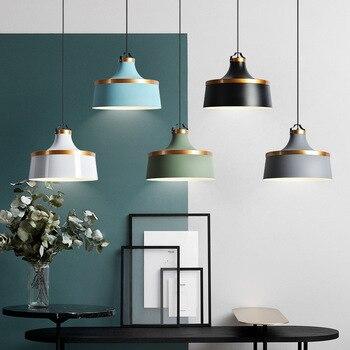 الشمال الملونة قلادة led أضواء مصباح معلق مصمم لإضاءة المطاعم غرفة الطعام بار مقهى شنقا تركيبات إضاءة شحن مجاني