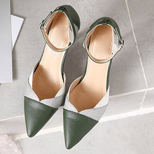 Fashion Women Pumps Sandals pu High Heel Summer Pointed Toe Shoes Casual Sexy Party Buckle woman sandals 2019 summer sandalias недорго, оригинальная цена